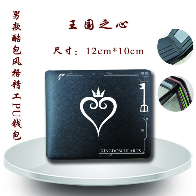 Anime Game Kingdom Hearts Men Leather PU Wallet