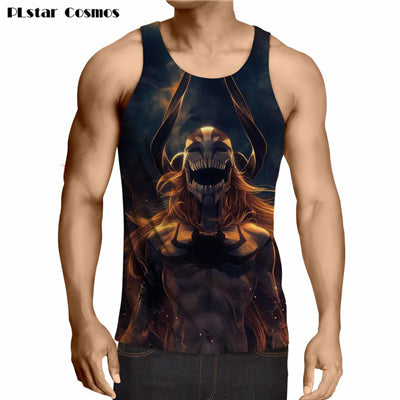 Image of Anime One Piece Handsome Ace Printed Tank Tops