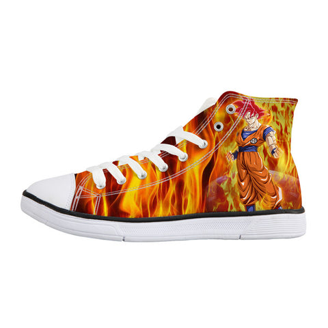 Image of Anime Dragon Balln Z Super Saiyan Son Goku  Print Canvas Shoes