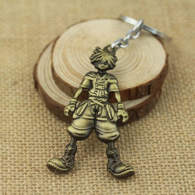 Anime Kingdom Hearts Sora Metal keychain key ring Accessories