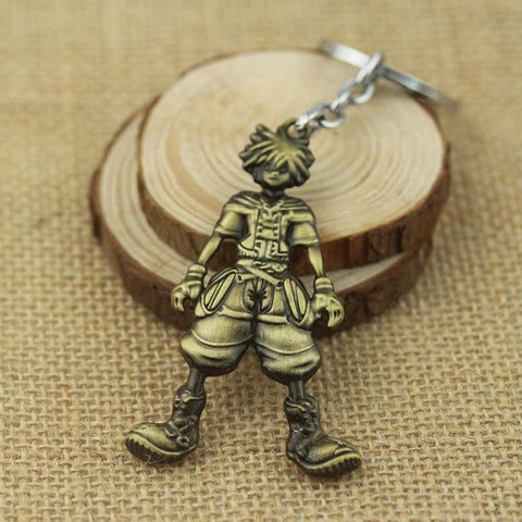 Image of Anime Kingdom Hearts Sora Metal keychain key ring Accessories