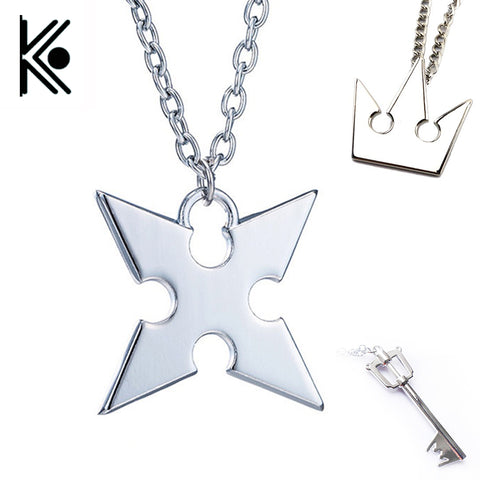 Anime Kingdom Hearts Cosplay Necklace Crown Pendant