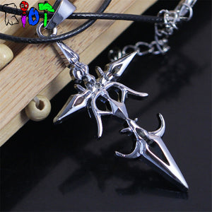 anime FATE stay night Arthur saber Leather Chain Pendant Necklaces