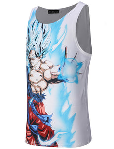 Anime Dragon Ball Z Vest harajuku Goku/Vegeta 3d print casual Tank Top