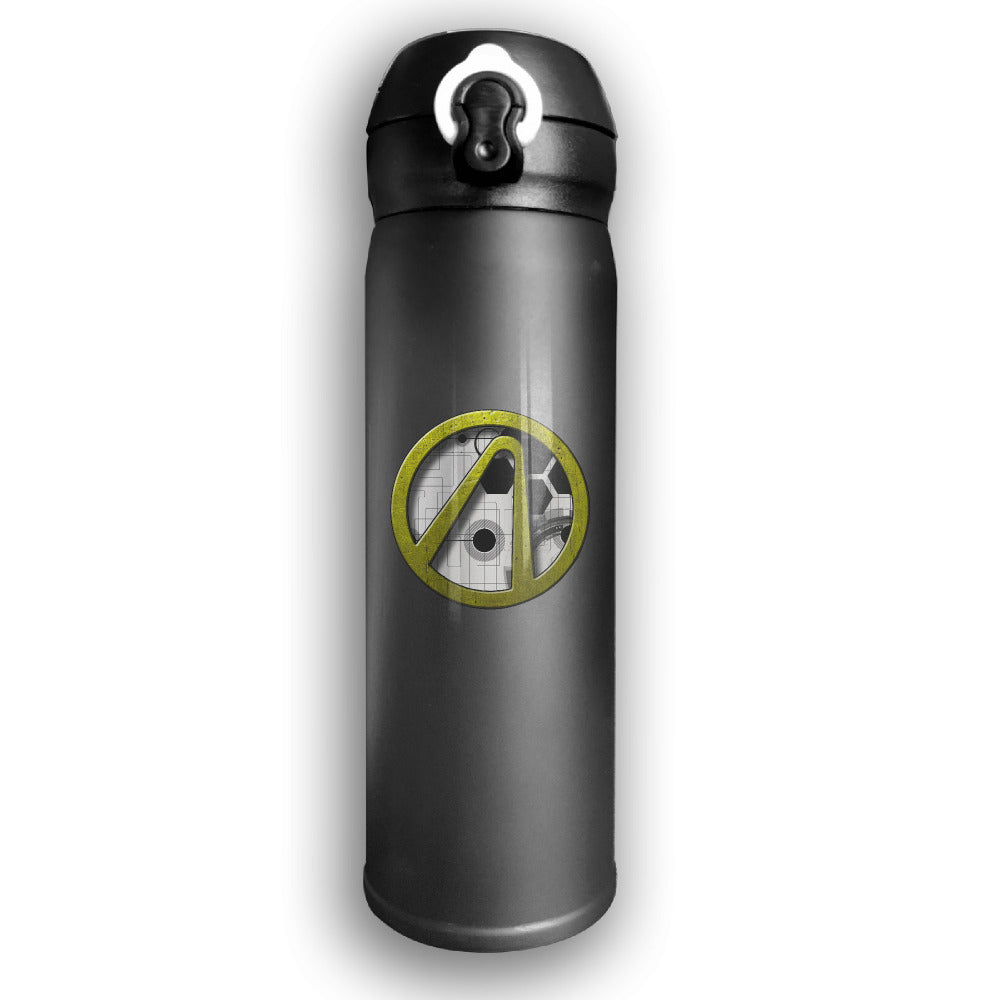 Borderlands Print Thermos Portable Travel Stainless Steel Tumbler Cup 500ML