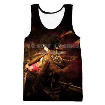 Image of Anime Attack on Titan Harajuku Style 3d  Tank top