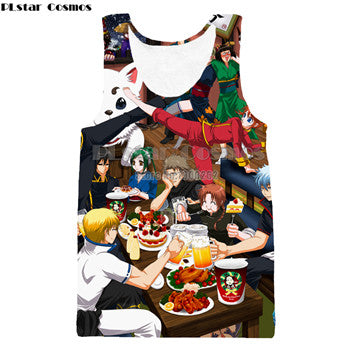 Anime Gintama Harajuku Style  Men Women 3d Tank Top
