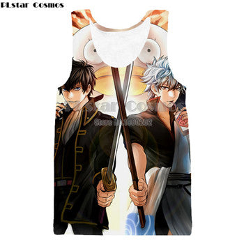Image of Anime Gintama Harajuku Style  Men Women 3d Tank Top