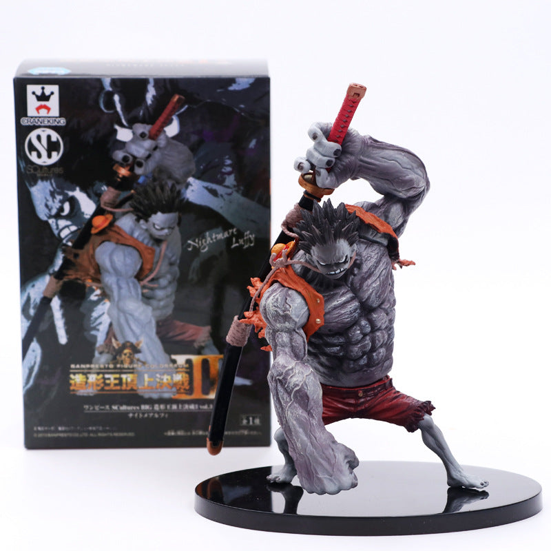 15cm Anime One Piece Nightmare Luffy Special Gray Ver PVC Action Figure Collection Model Toys