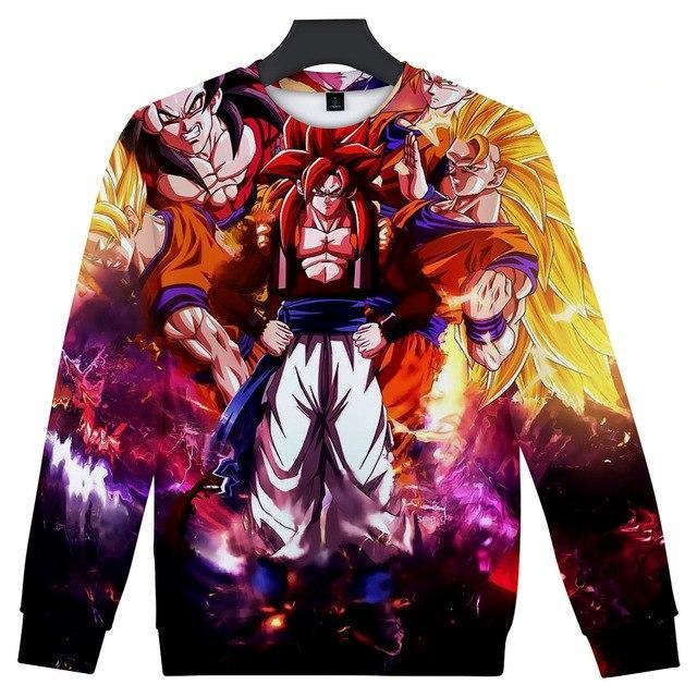 Anime Dragon Ball Z goku 3D Sweatshirt