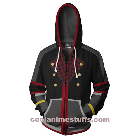 Image of Kingdom Hearts Sora Zip Up Hoodie