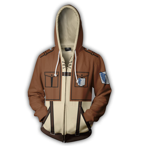 Image of Attack on Titan Eren Yeager Zip Up Hoodie