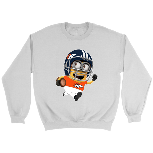 NFL – Denver Broncos Cute Minions Football Sweatshirt-T-shirt-Crewneck Sweatshirt-White-S-Itees Global