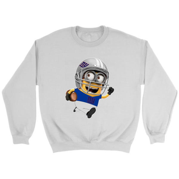 NFL – New York Giants Cute Minions Football Sweatshirt-T-shirt-Crewneck Sweatshirt-White-S-Itees Global
