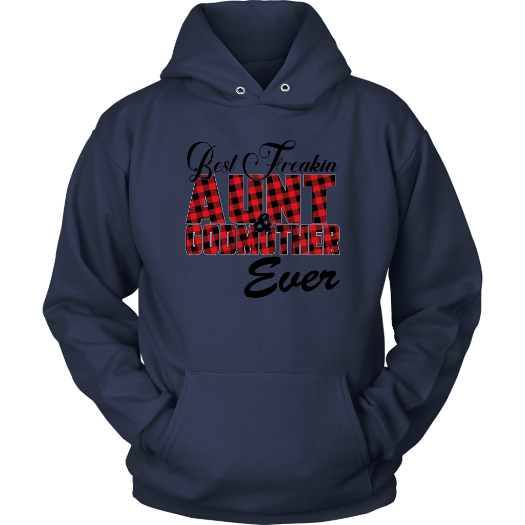Best Freakin Aunt & Godmother Ever Sweatshirt-T-shirt-Unisex Hoodie-Navy-S-Itees Global