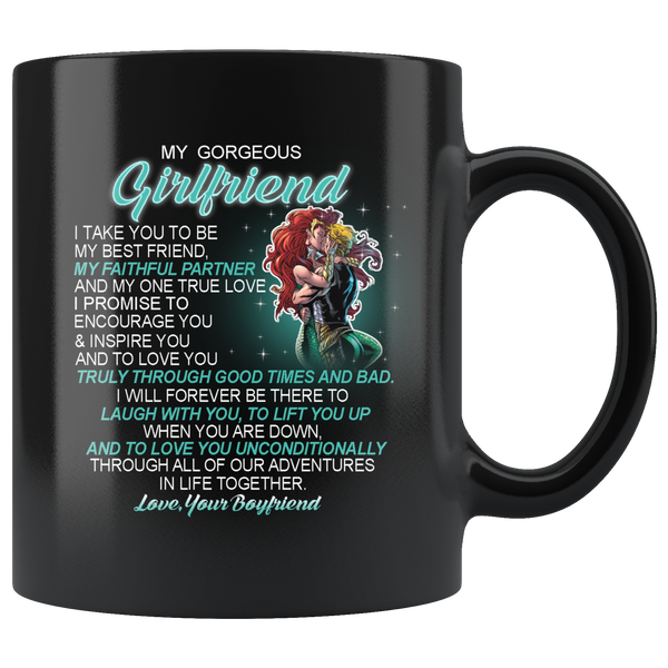 My Gorgeous Girlfriend I Take You To Be My Best Friend My Faithful Partner And My One True Love I Promise To Encourage You Aquaman And Mera Valentine's Day Mugs-Drinkware-My girlfriend-Itees Global