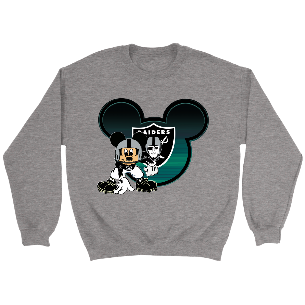 NFL – Oakland Raiders Mickey Mouse Football Sweatshirt