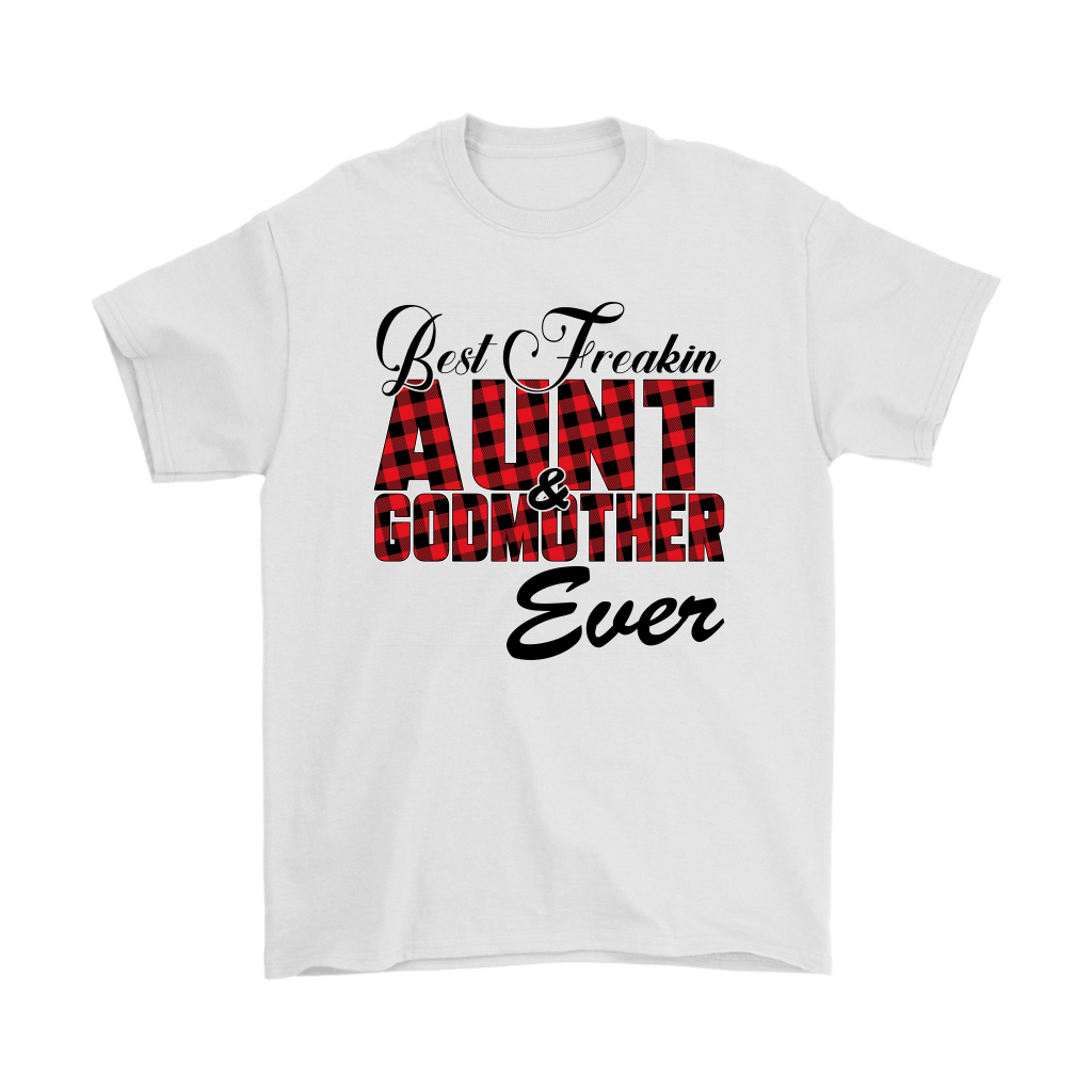 Best Freakin Aunt & Godmother Ever Sweatshirt-T-shirt-Gildan Mens T-Shirt-White-S-Itees Global