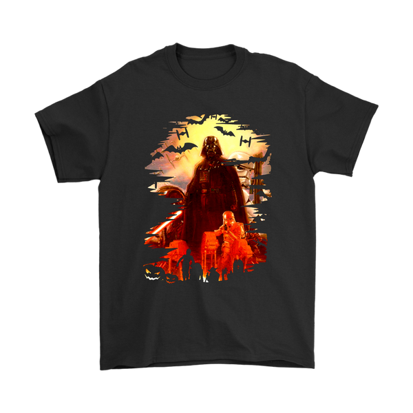 Halloween Pumpskin Star Wars Darth Vader Shirts-T-shirt-Gildan Mens T-Shirt-Black-S-Itees Global
