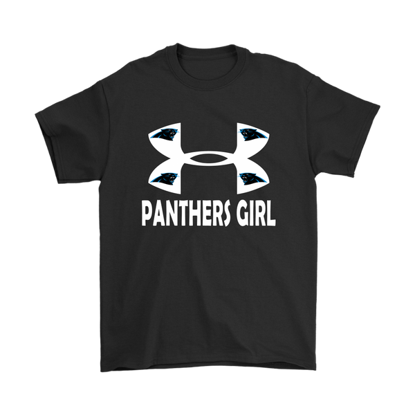 NFL – Carolina Panthers Girl Under Armour Football Shirts-T-shirt-Gildan Mens T-Shirt-Black-S-Itees Global