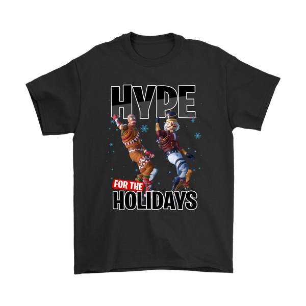 Fortnite - Hype For The Holidays Christmas Merry Marauder Crackshot Shirts-T-shirt-Gildan Mens T-Shirt-Black-S-Itees Global