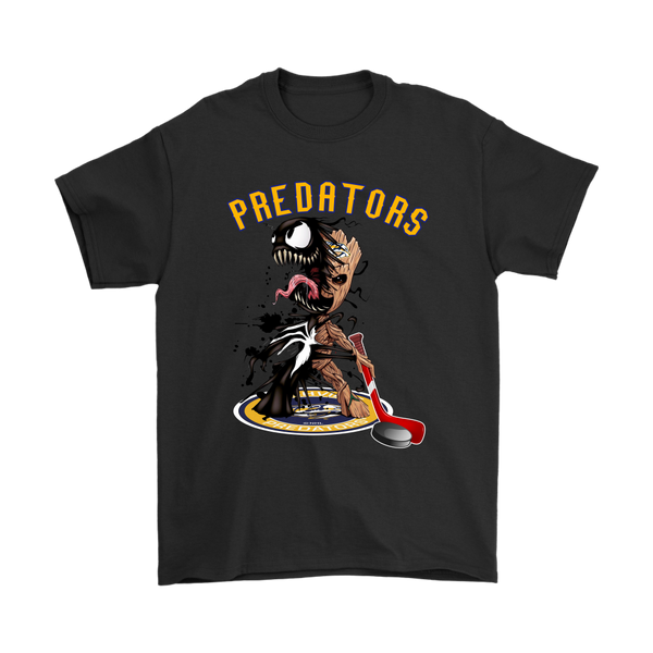 NHL – Nashville Predators Venom Groot Guardian Of The Galaxy Hockey Shirts-T-shirt-Gildan Mens T-Shirt-Black-S-Itees Global