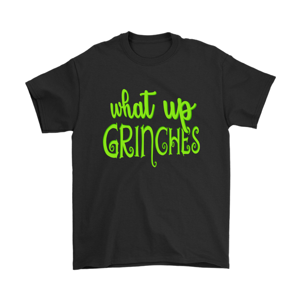 What Up Grinches Dr. Seuss' The Grinch Christmas Max Dog Movies Shirt-T-shirt-Gildan Mens T-Shirt-Black-S-Itees Global