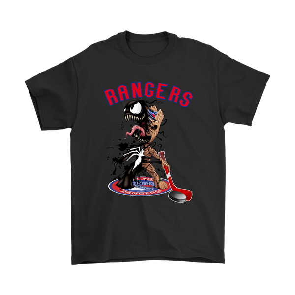 NHL – New York Rangers Venom Groot Guardian Of The Galaxy Hockey Shirts-T-shirt-Gildan Mens T-Shirt-Black-S-Itees Global