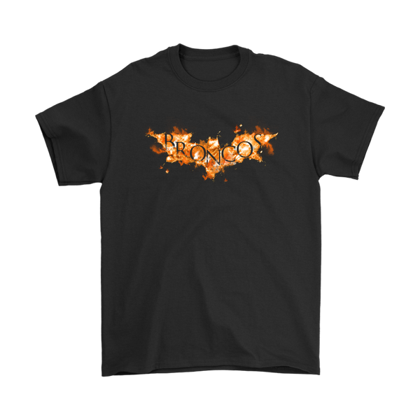 NFL – Denver Broncos Batman Football Sports Shirt-T-shirt-Gildan Mens T-Shirt-Black-S-Itees Global