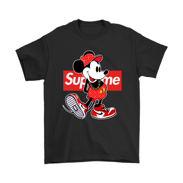 Mickey Mouse Disney Supreme Shirt-T-shirt-Gildan Mens T-Shirt-Black-S-Itees Global
