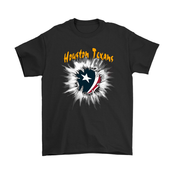 NFL – Awesome Houston Texans Football Shirts-T-shirt-Gildan Mens T-Shirt-Black-S-Itees Global
