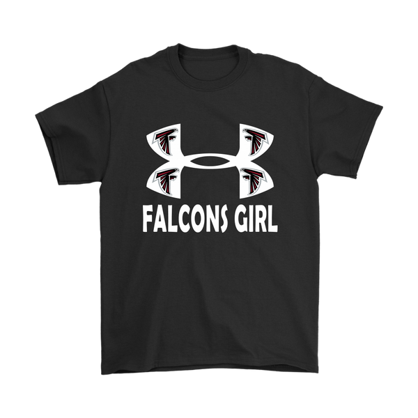 NFL – Atlanta Falcons Girl Under Armour Football Shirts-T-shirt-Gildan Mens T-Shirt-Black-S-Itees Global