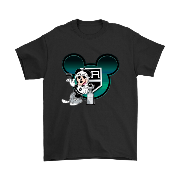 NHL – Los Angeles Kings Mickey Mouse Hockey Disney Shirt-T-shirt-Gildan Mens T-Shirt-Black-S-Itees Global