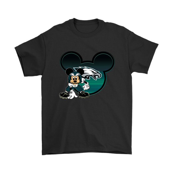 NFL – Philadelphia Eagles Mickey Mouse Football Shirts-T-shirt-Gildan Mens T-Shirt-Black-S-Itees Global