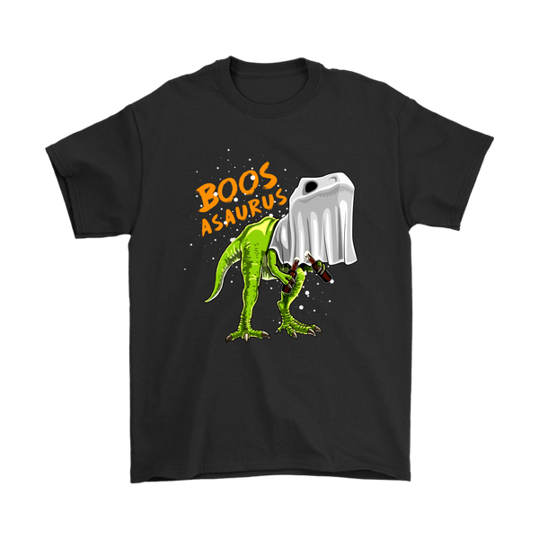 Boos Asaurus Dinosaur Ghost Beer Halloween Costume Shirts-T-shirt-Gildan Mens T-Shirt-Black-S-Itees Global