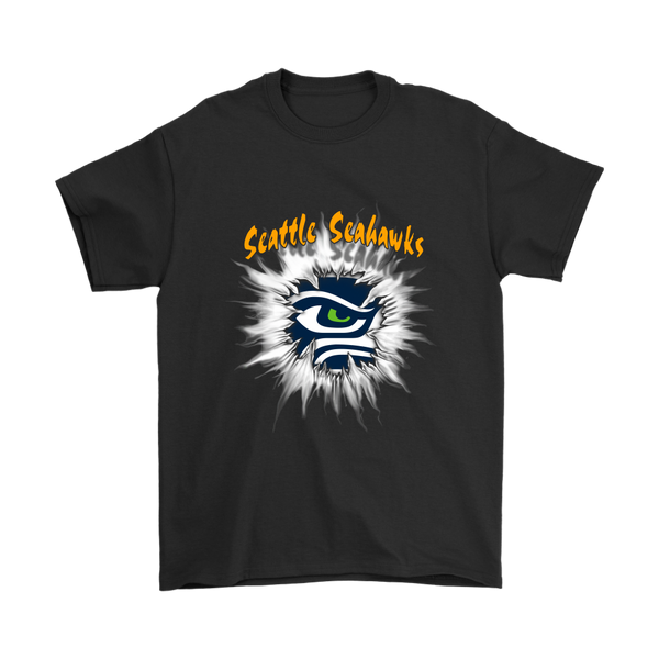 NFL – Awesome Seattle Seahawks Football Shirts-T-shirt-Gildan Mens T-Shirt-Black-S-Itees Global