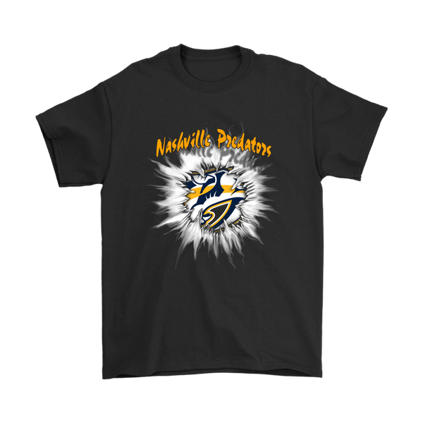 NHL – Awesome Nashville Predators Hockey Shirts-T-shirt-Gildan Mens T-Shirt-Black-S-Itees Global