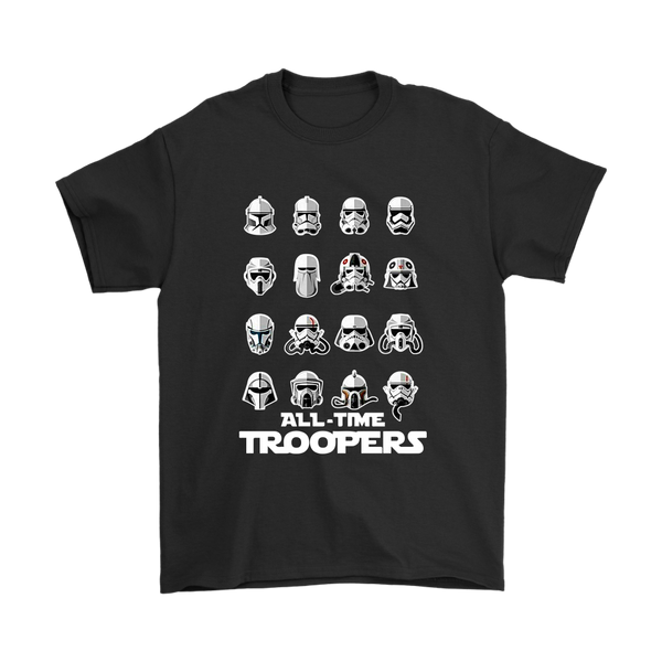 All Time Troopers Star Wars Movies Shirts-T-shirt-Gildan Mens T-Shirt-Black-S-Itees Global