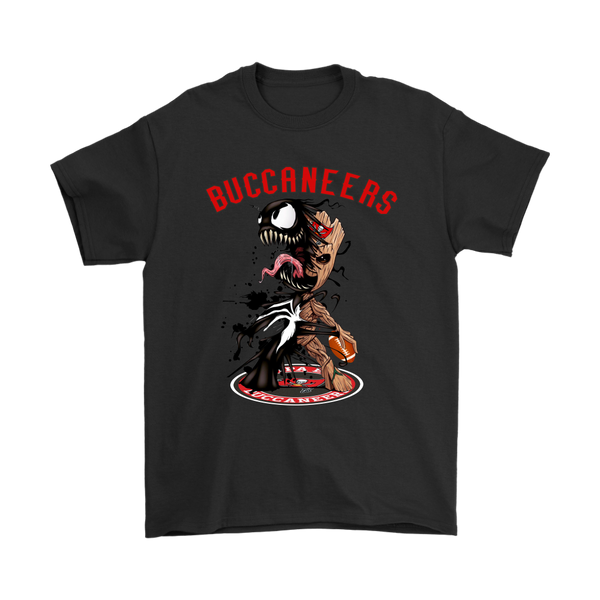 NFL – Tampa Bay Buccaneers Venom Groot Guardian Of The Galaxy Football Shirts-T-shirt-Gildan Mens T-Shirt-Black-S-Itees Global