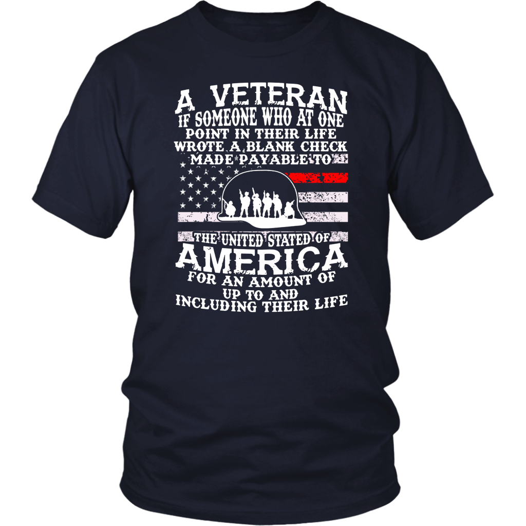 A Veteran If Someone Who At One Point In Their Life Shirts DTUnisex