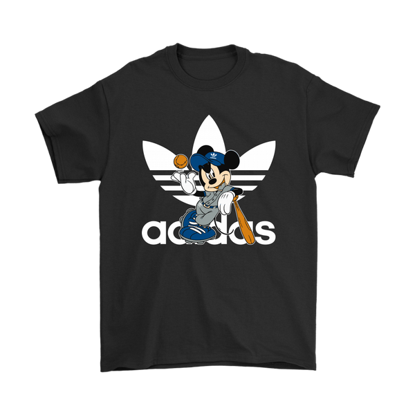 Adidas Baseball Mickey Mouse Disney Sports Shirts-T-shirt-Gildan Mens T-Shirt-Black-S-Itees Global