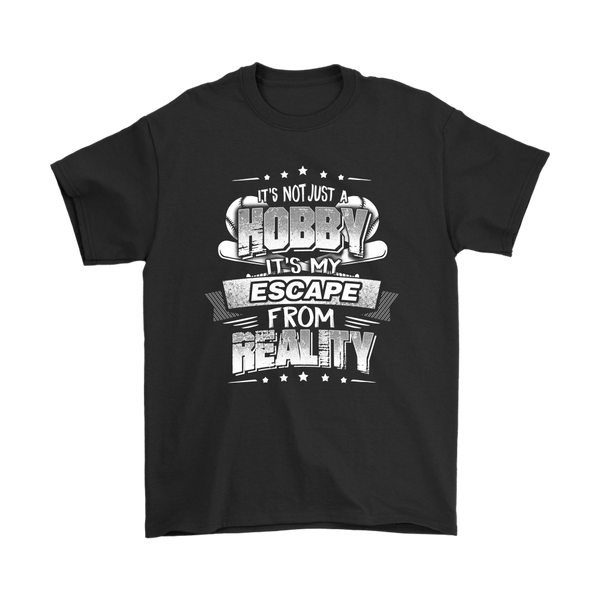Baseball It's Not Just A Hobby It's My Escape From Reality Shirts-T-shirt-Gildan Mens T-Shirt-Black-S-Itees Global