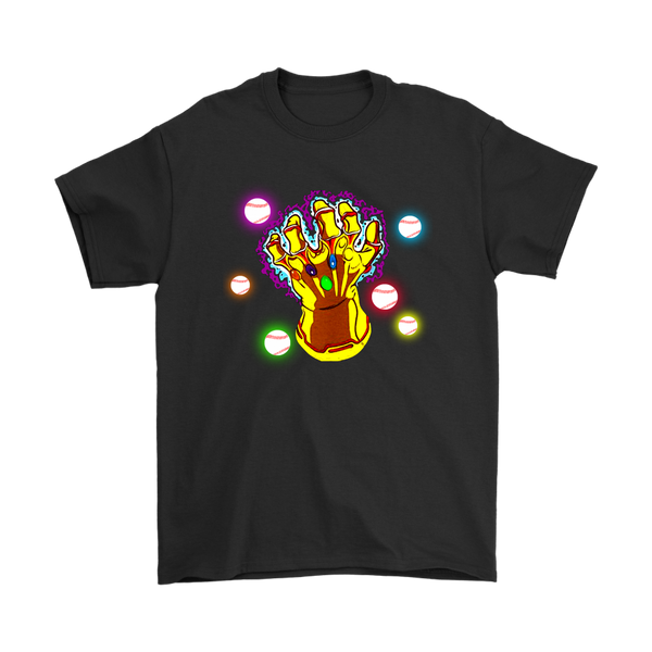 Baseball World Gauntlet Infinity War Movies Sports Shirts-T-shirt-Gildan Mens T-Shirt-Black-S-Itees Global