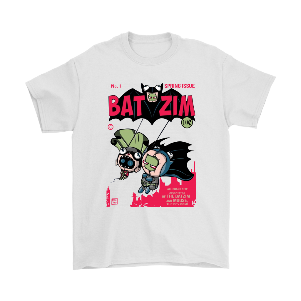 0604f39cef216 Comic Con – BatZim Exclusive 90s Kid Batman And Invader Zim Meet Up In This  Design Shirts