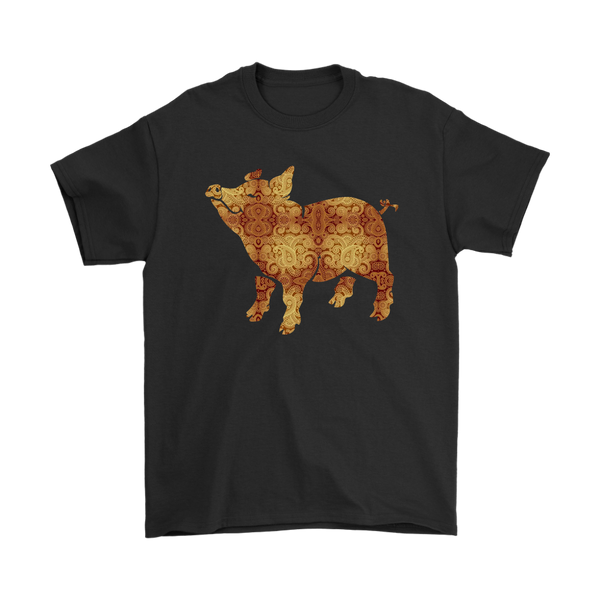 Cute Pig Shirts-T-shirt-Gildan Mens T-Shirt-Black-S-Itees Global