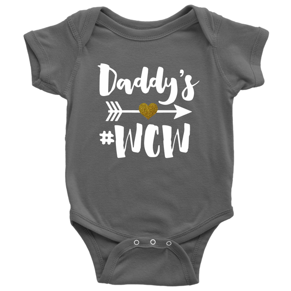 Daddy's Wow Shirts-T-shirt-Baby Bodysuit-Asphalt-NB-Itees Global