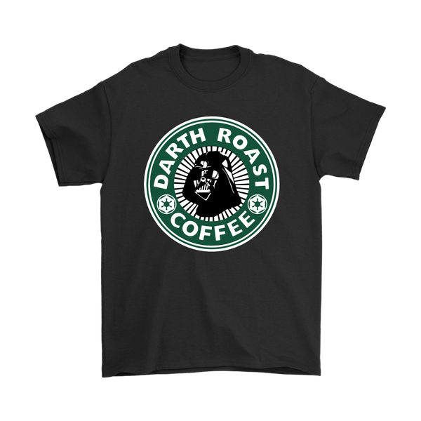 Darth Roast Coffee Darth Vader Star Wars Shirts-T-shirt-Gildan Mens T-Shirt-Black-S-Itees Global