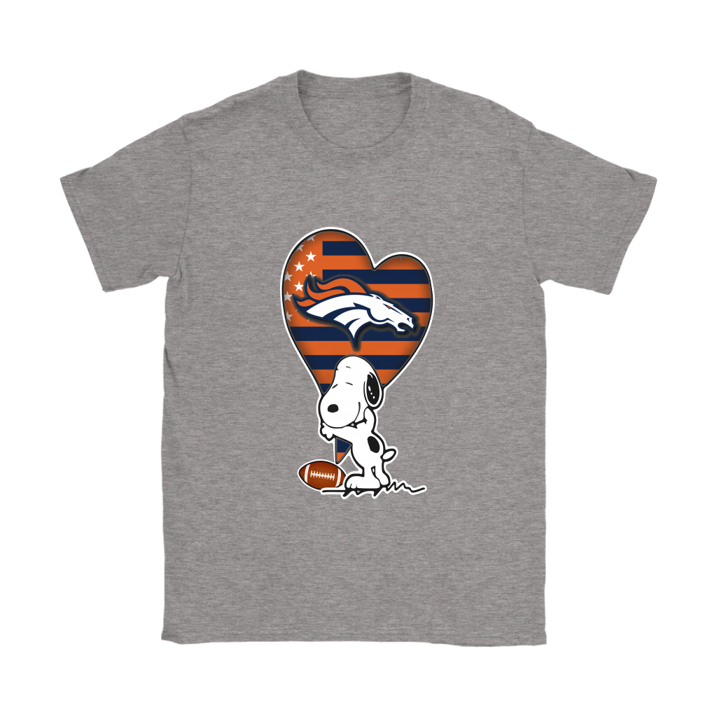 Denver Broncos Snoopy Football Sports Shirts Women - Alottee 6d6502f08