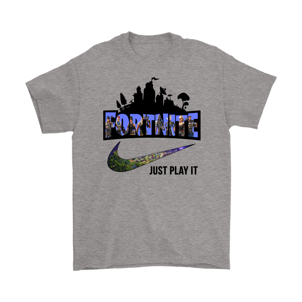 Fortnite Just Play It Nike Logo Shirts
