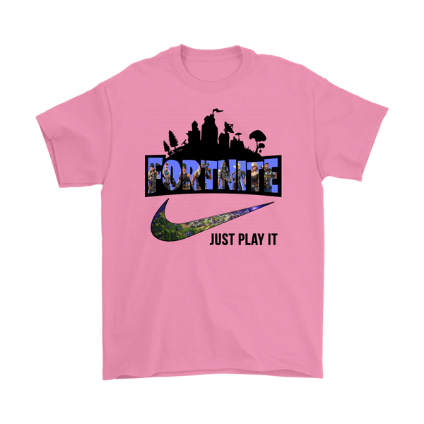 FORTNITE - NIKE JUST PLAY IT LOGO SHIRTS-T-shirt-Gildan Mens T-Shirt-Azalea-S-Itees Global